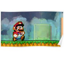 Super Mario retro painted pixel art Poster