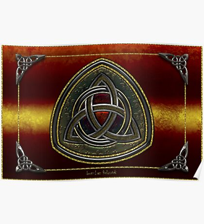 Coat of Arms Celtic Triquetra Poster