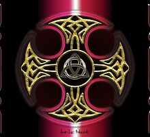 Red Dark Celtic Cross by Bluesax