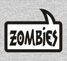 ZOMBIES SPEECH BUBBLE by Zombie Ghetto One Piece - Long Sleeve