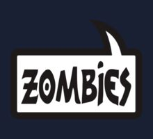 ZOMBIES SPEECH BUBBLE by Zombie Ghetto One Piece - Short Sleeve