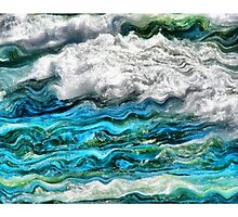 Cresting Waves Triptych by Michelle Calkins