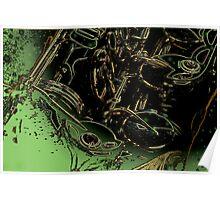abstract sax keywork  Poster