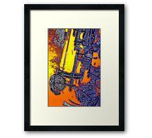 abstract sax keywork  Framed Print