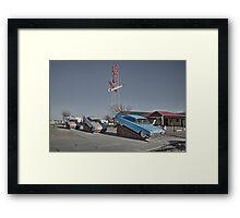Cadillac RV park  Framed Print