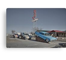 Cadillac RV park  Canvas Print