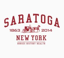 Saratoga Race Track America's Racetrack Vintage T-Shirt by Albany Retro
