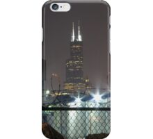 Sears Tower Through Barbed Wire (Phone Case) iPhone Case/Skin