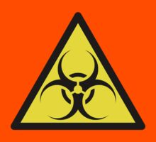 ZOMBIE APOCALYPSE HAZMAT SIGN by Zombie Ghetto Kids Tee