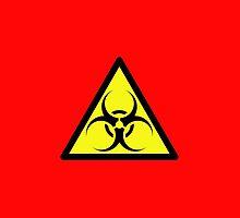 ZOMBIE APOCALYPSE HAZMAT SIGN by Zombie Ghetto by ZombieGhetto