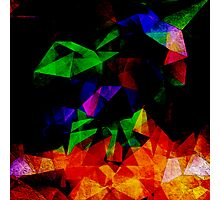 Textured Triangles With Color Photographic Print