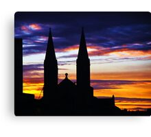 Commercial Sunset Canvas Print