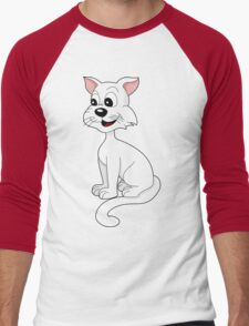 Cartoon cat Men's Baseball ¾ T-Shirt