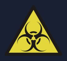 ZOMBIE APOCALYPSE HAZMAT SIGN by Zombie Ghetto One Piece - Short Sleeve
