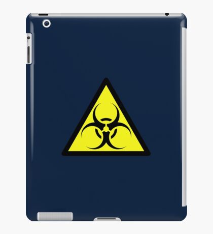 ZOMBIE APOCALYPSE HAZMAT SIGN by Zombie Ghetto iPad Case/Skin