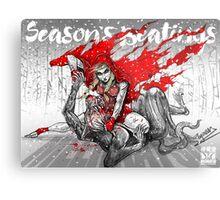 Red Knee Ride Hood - Xmas edition Metal Print