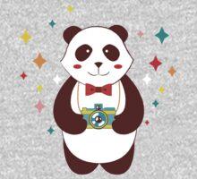 Cute Panda Photographer  One Piece - Long Sleeve