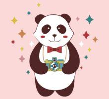 Cute Panda Photographer  Kids Clothes
