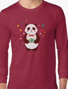 Cute Panda Photographer  Long Sleeve T-Shirt
