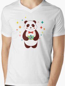 Cute Panda Photographer  Mens V-Neck T-Shirt