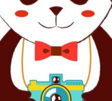 Cute Panda Photographer  Sticker