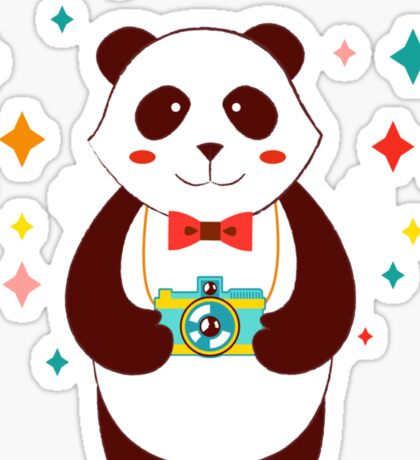 Cute Panda Photographer  Sticker