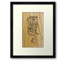 Wood Dragon Framed Print