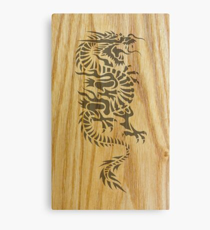 Wood Dragon Canvas Print