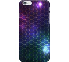 Hexagon pattern space effect iPhone Case/Skin
