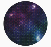 Hexagon pattern space effect One Piece - Short Sleeve
