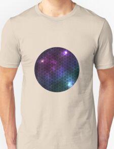 Hexagon pattern space effect Unisex T-Shirt