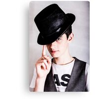 The Boy in the Bowler Hat Canvas Print