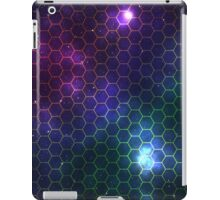 Hexagon pattern space effect iPad Case/Skin
