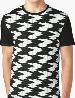 Geometric patterns - Stairway 3D Effect Graphic T-Shirt