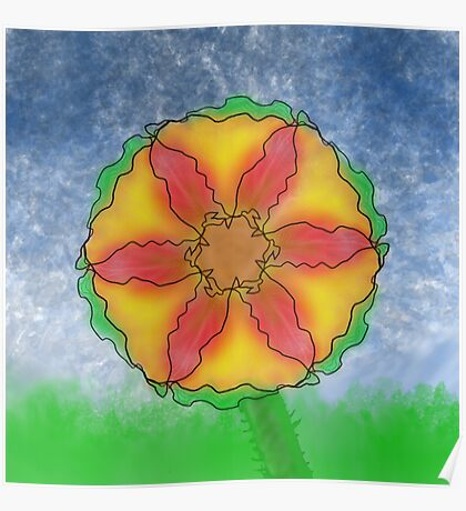 Odd Flower Poster