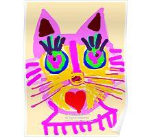Cat Head  Poster