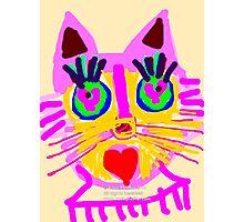 Cat Head  Photographic Print