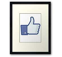 Facebook 'like' button Framed Print