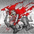 Red Knee-Ride Hood by Meerkatsu