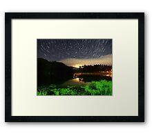 Wildcat Lake Star Trail Framed Print