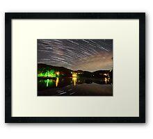 Wildcat Lake Star Trails Framed Print