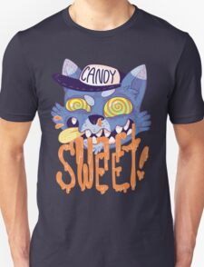 candy cat (blue + orange) Unisex T-Shirt