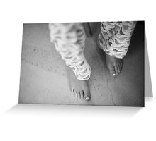 Childs feet Greeting Card