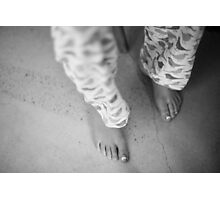 Childs feet Photographic Print