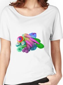 Multicolour Vegetable Selection Women's Relaxed Fit T-Shirt