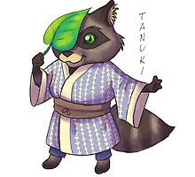 Fizzy Tanuki - Japanese Youkai by fizzy-lizard