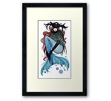 Mia mermaid Framed Print