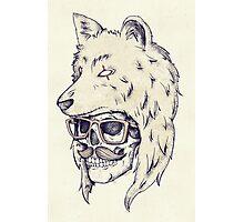 Wolf Hat Photographic Print