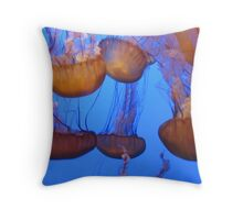 Monterey Bay Jellyfish 2 Throw Pillow