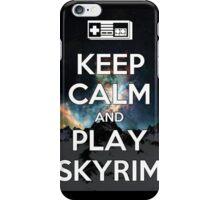 Keep Calm, Play Skyrim iPhone Case/Skin